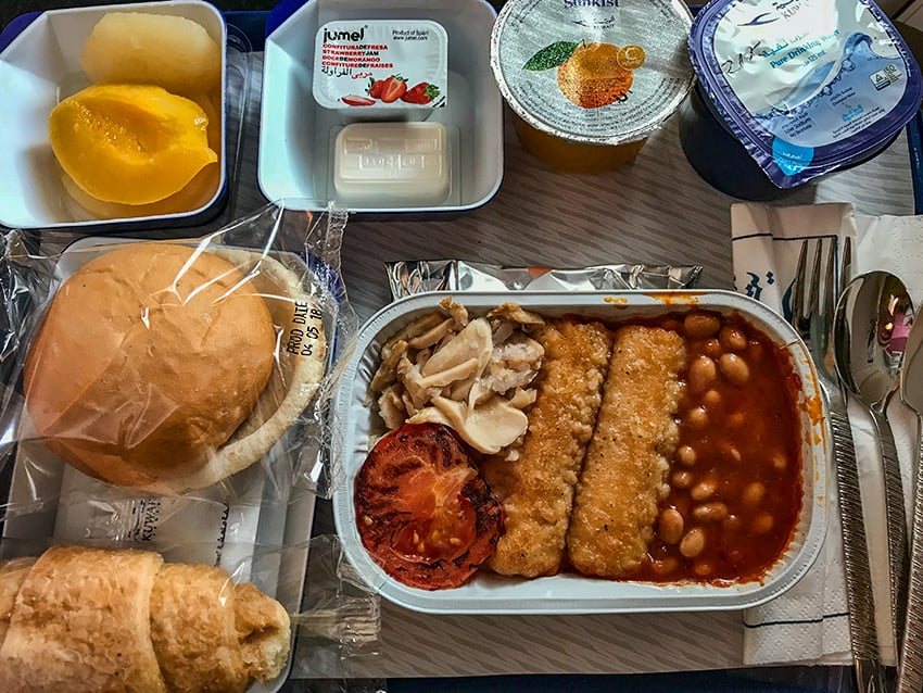 Vegetarian Lunch Kuwait Airways