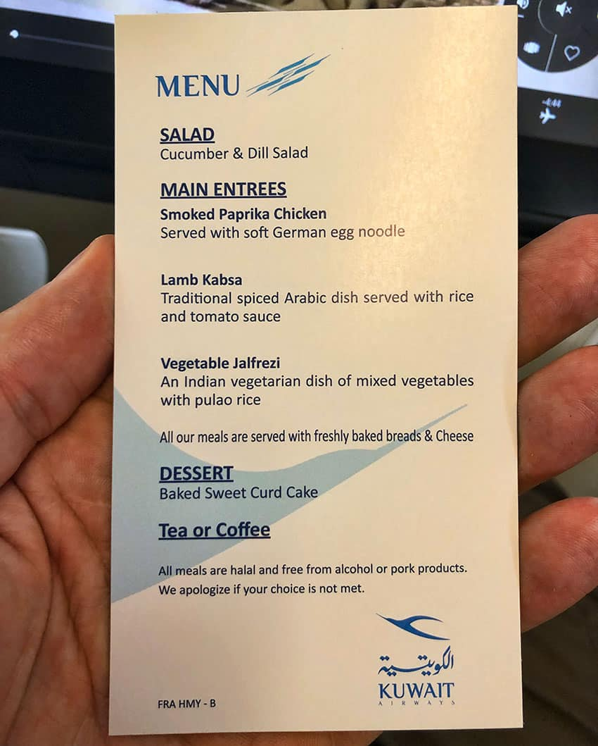 Regular Menu