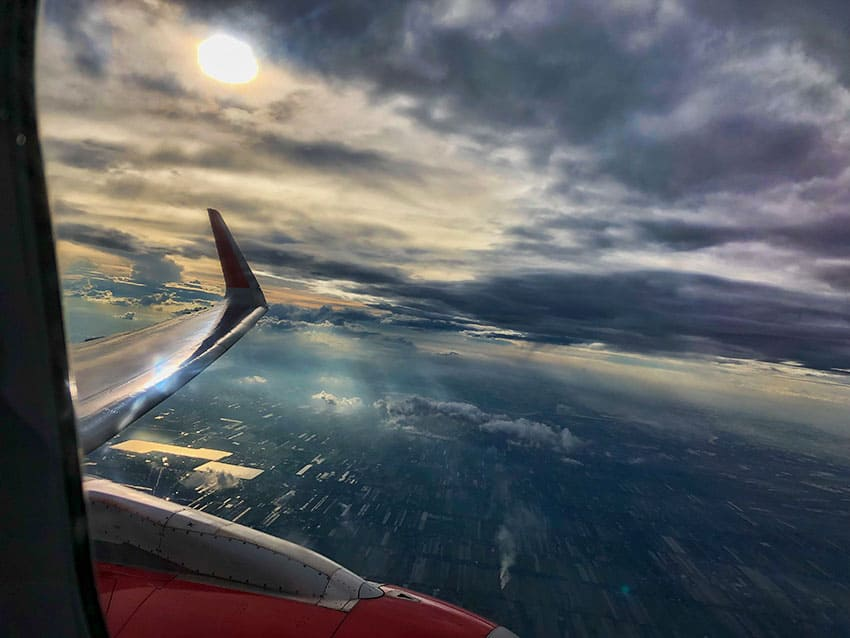 View out of a VietJet Airplane
