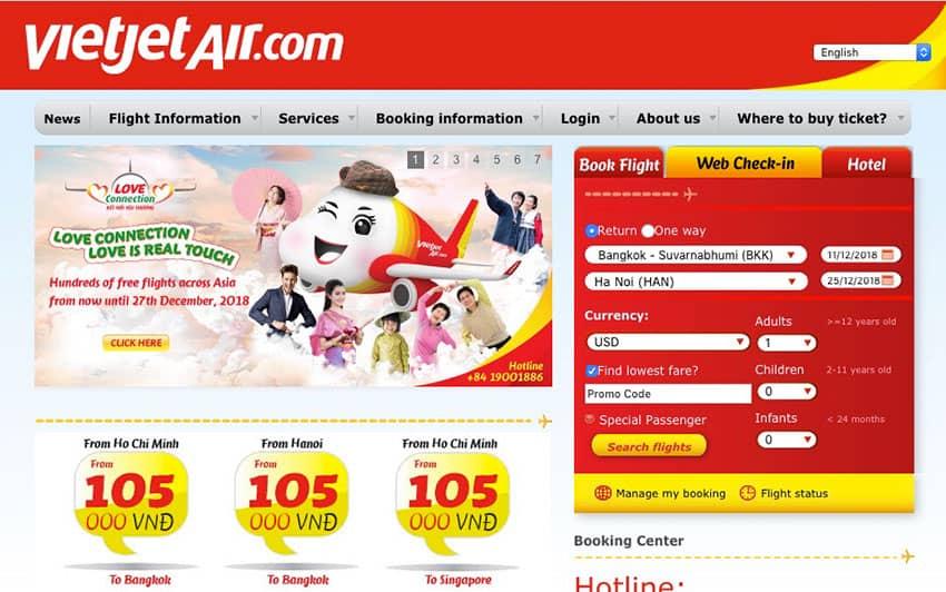 VietJet Air Homepage