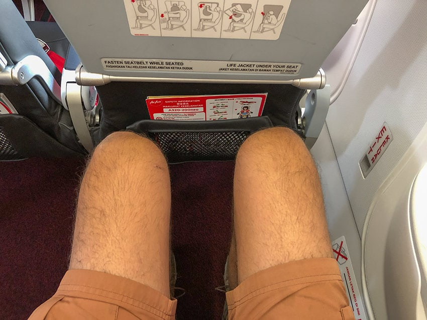 Legroom at the AirAsia A330-200neo exit row seat
