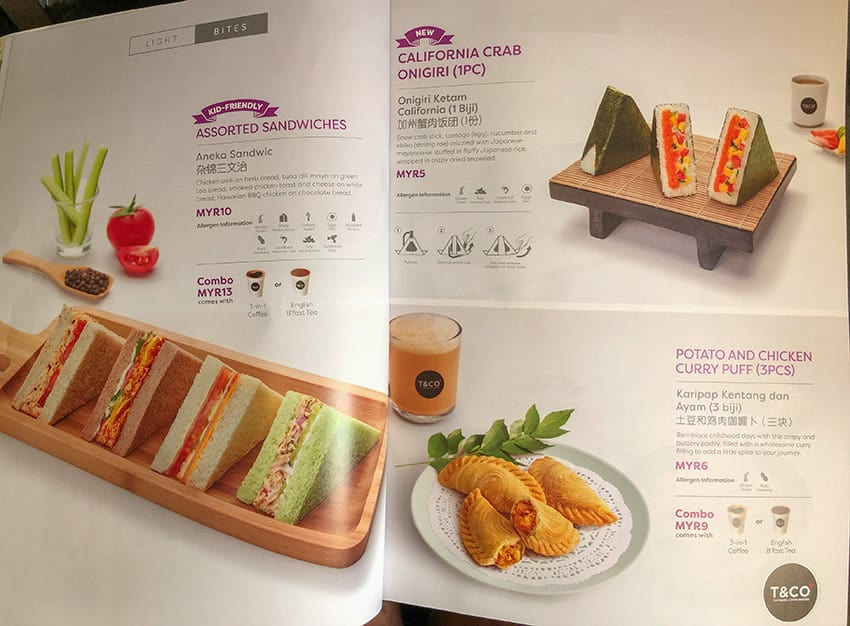 Air Asia Menu - Snacks