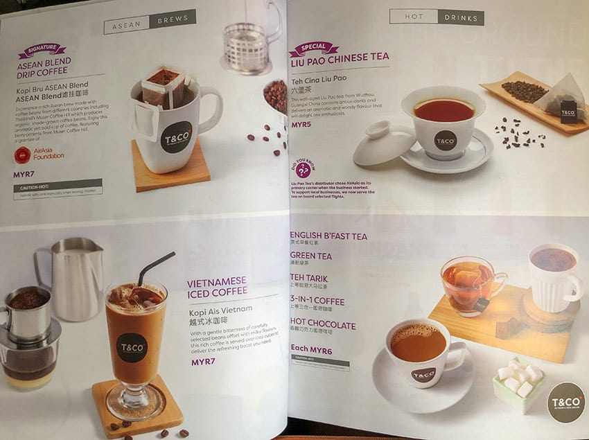 AirAsia Hot Drinks