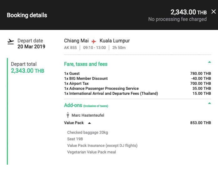 AirAsia Booking Overview