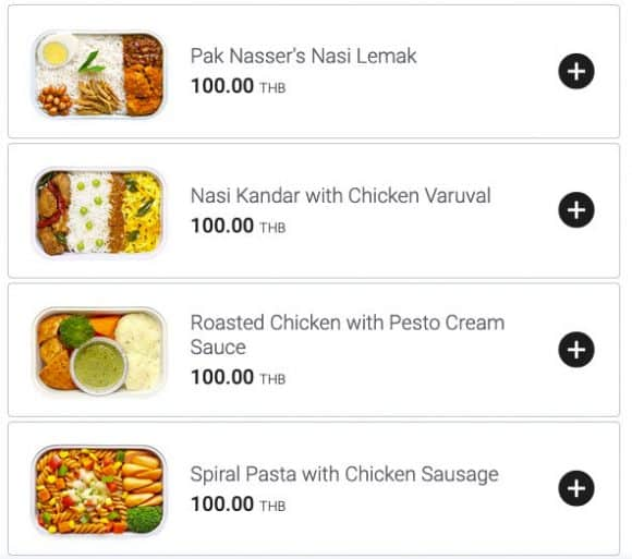 AirAsia Food Options