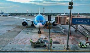 KLM B777-200 in Jakarta