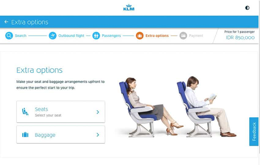 KLM Extra Options