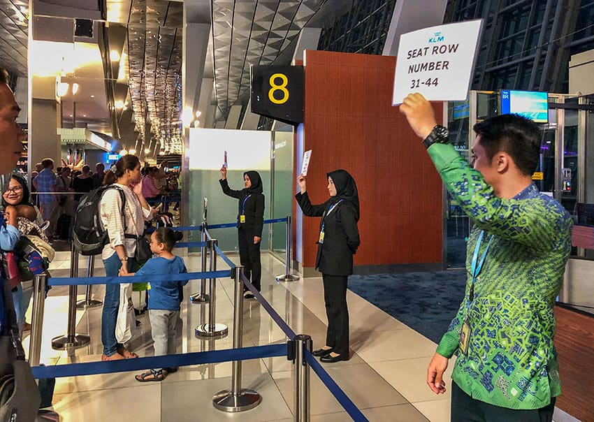 Boarding in Jakarta