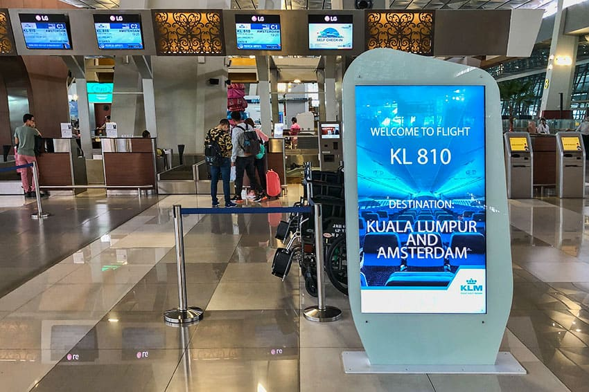 KLM Early Boarding in Jakarta
