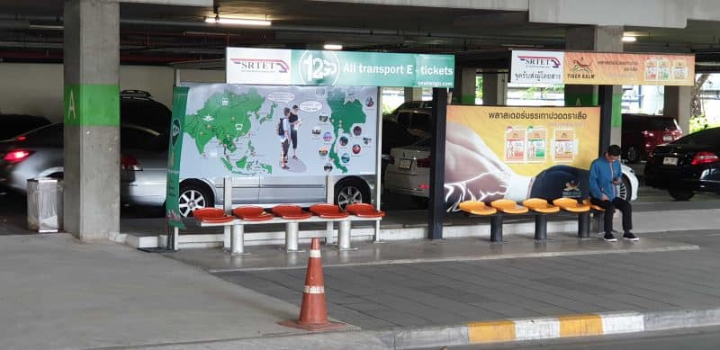 12Go Transport Bus Station at Makkasan Airport Railway Link