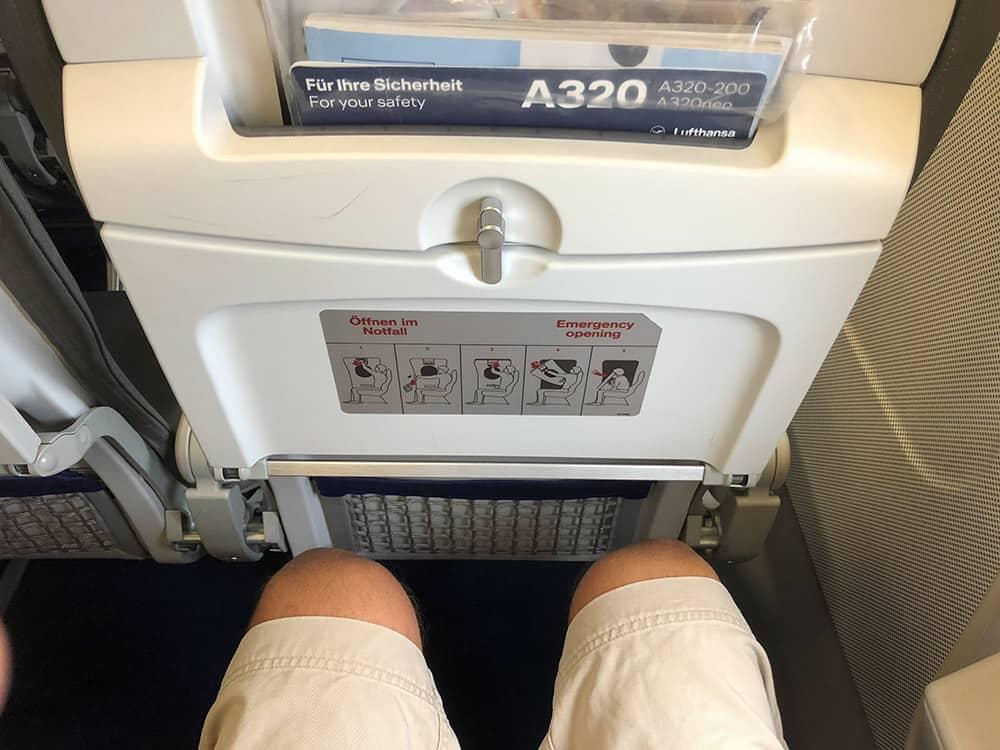 Lufthansa A320 Exit Row Seat