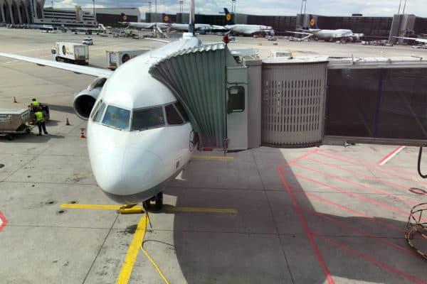 Lufthansa A320 in Frankfurt