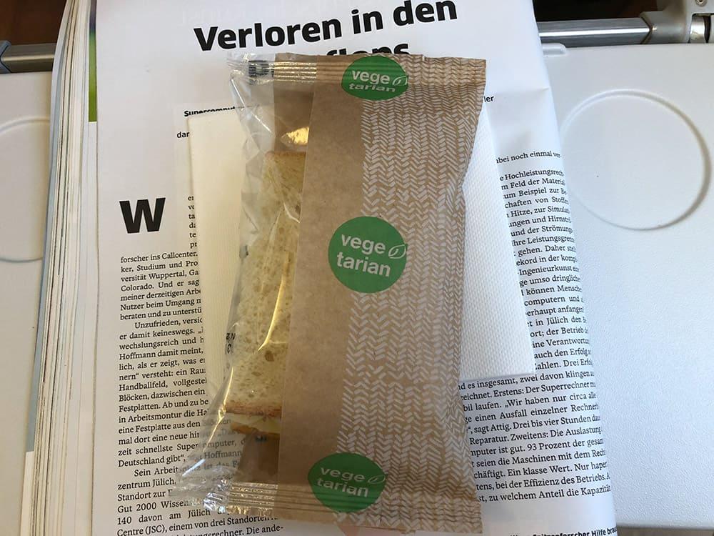 Vegetarian Sandwich Lufthansa
