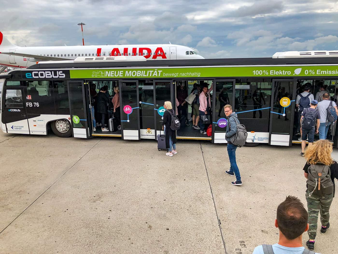 Airport-Bus in Stuttgart