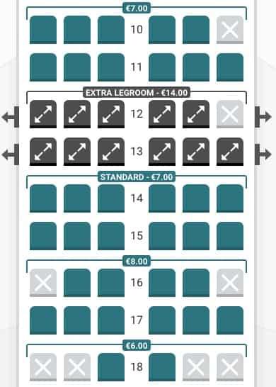 Lauda seat selection Row 10-18