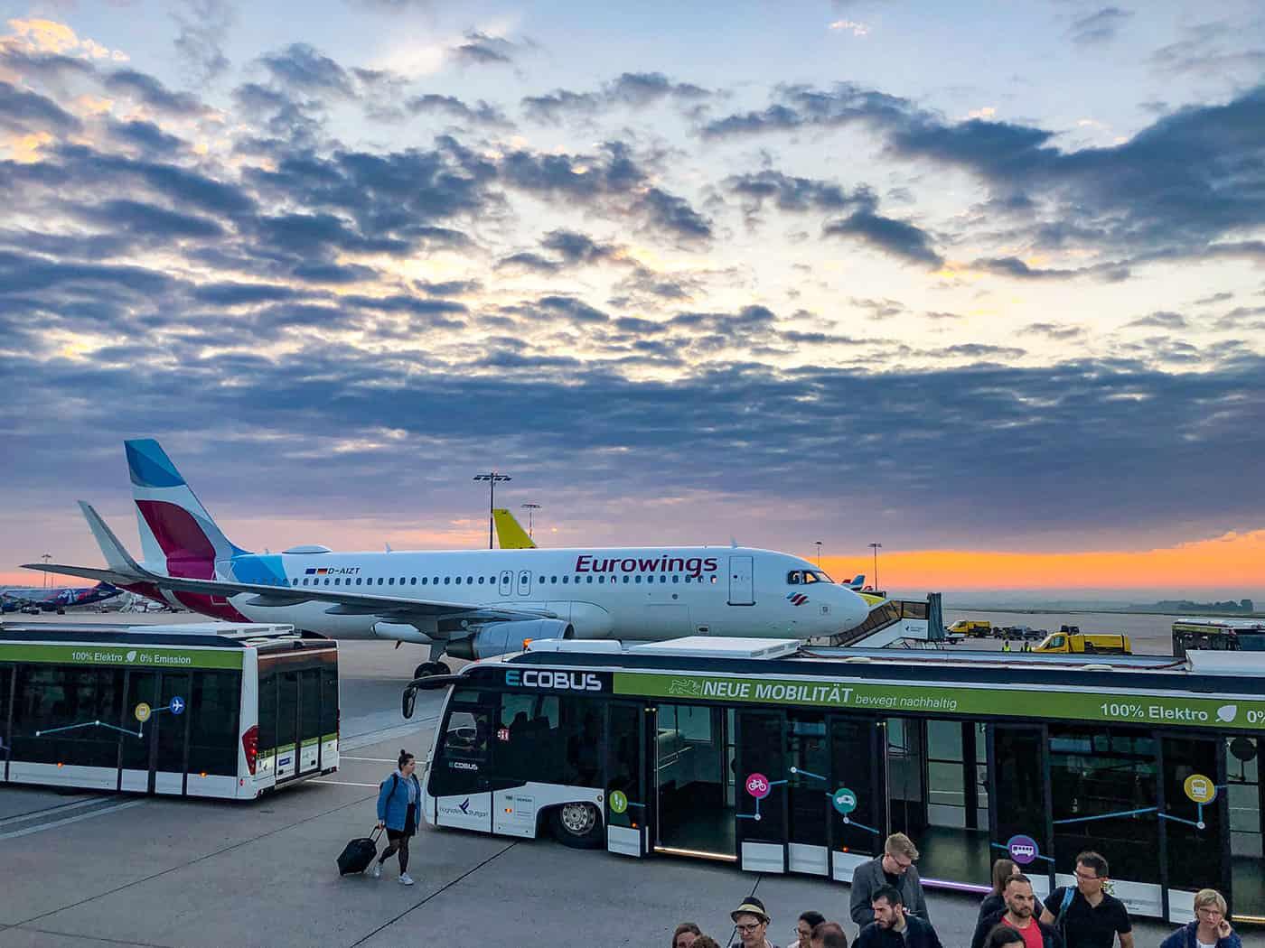 Stuttgart Airport in the morning