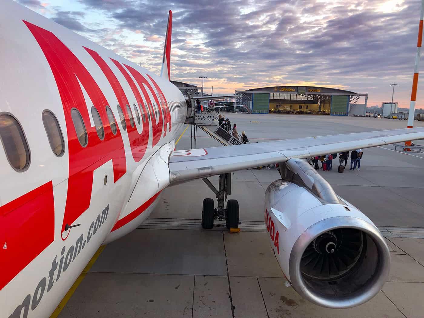 Lauda Plane Airport Stuttgart