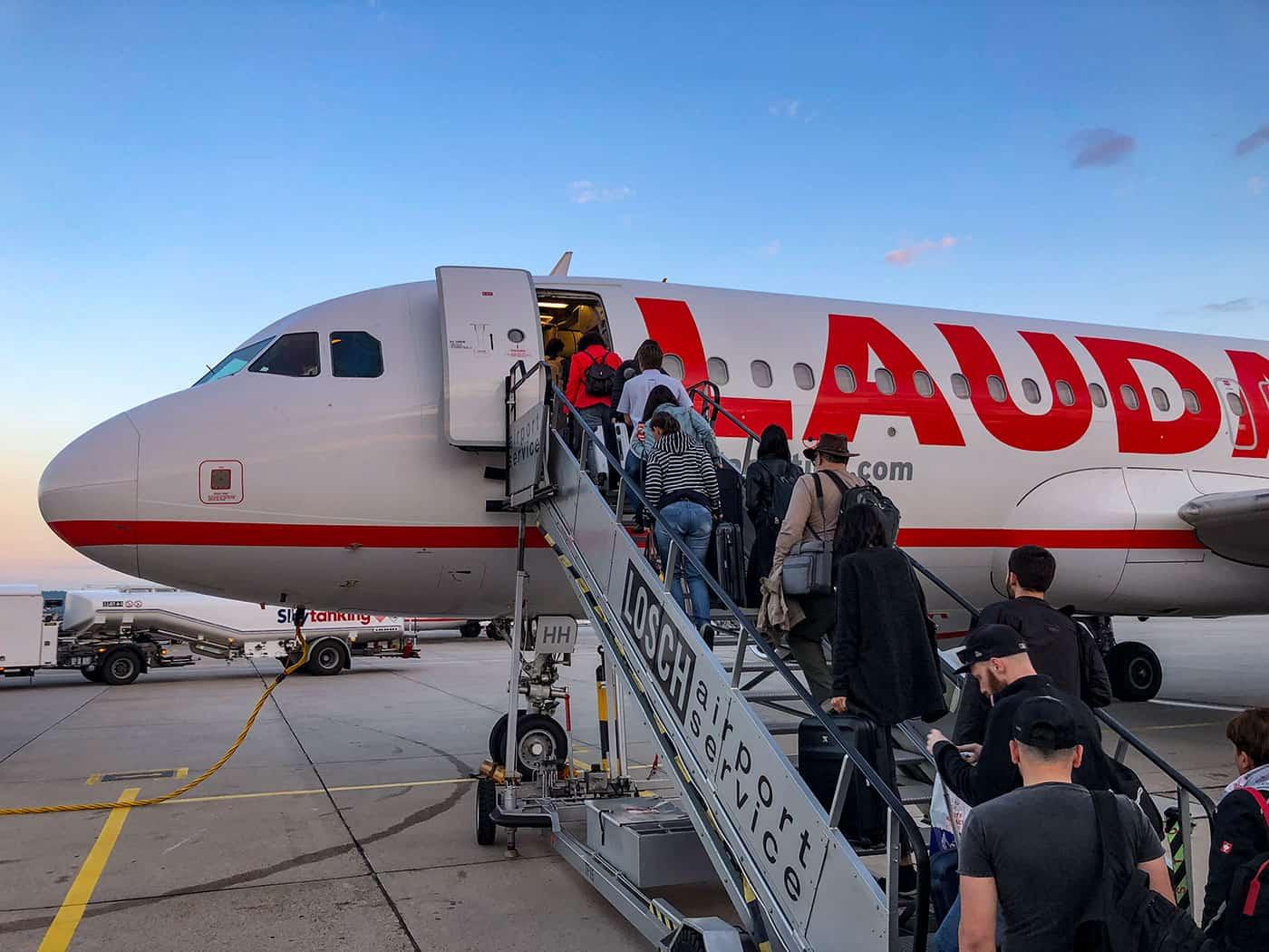 Lauda Boing 320 at Stuttgart Airport